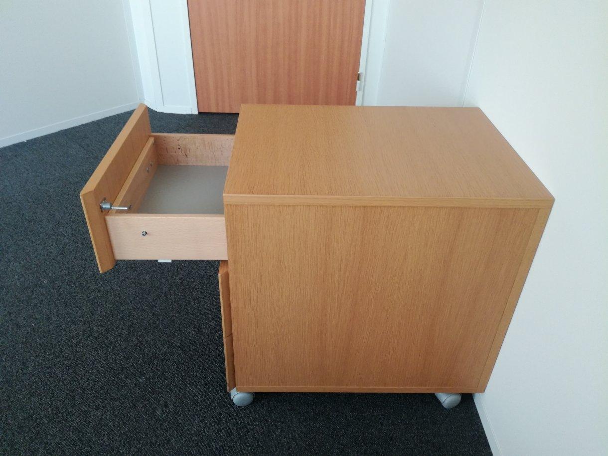 Caisson de bureau bois clair steelcase