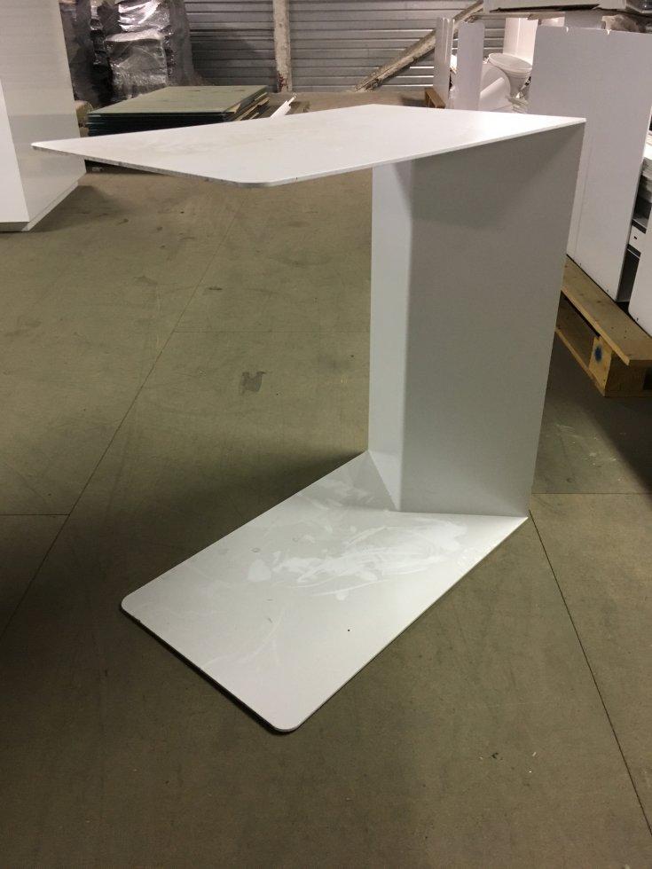 Console Design En Metal Blanc Laque